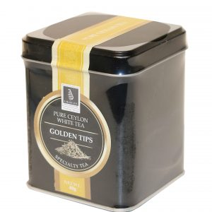 CEYLON TEA - GOLDEN TIPS 40G IN A CADDY (LOOSE TEA)
