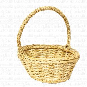 Cane and Reed Oval Basket
