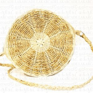 Cane and Reed Round Bag