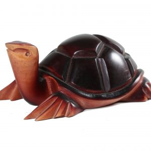 MAHOGANY WOODEN TURTLE
