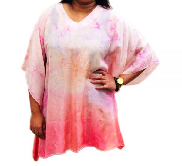 Batik Silk Poncho #03