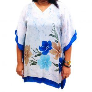 Batik Silk Poncho