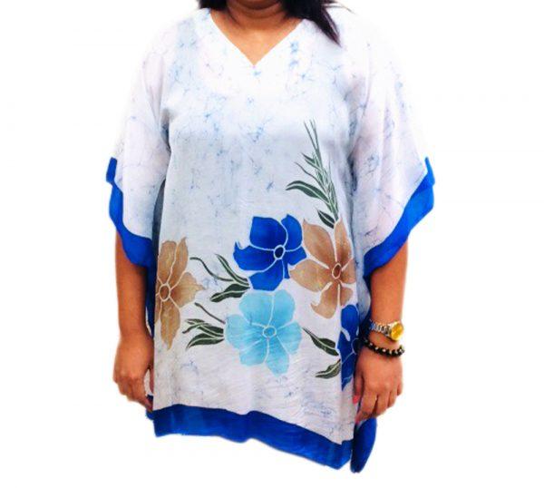 Batik Silk Poncho #05