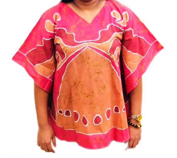 Batik Cotton Poncho #11
