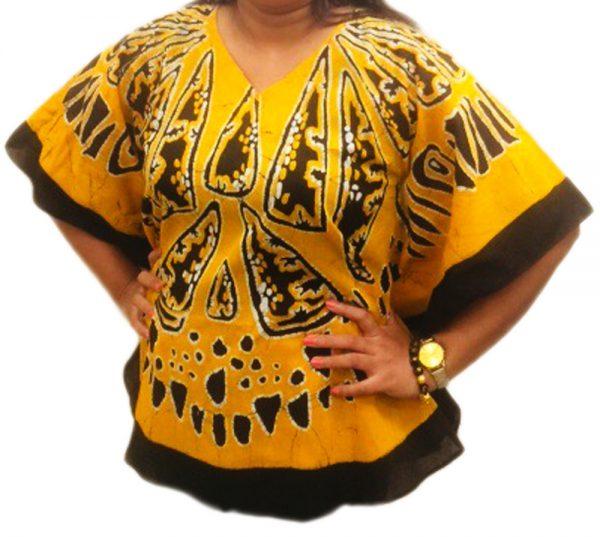 Batik Cotton Poncho #14