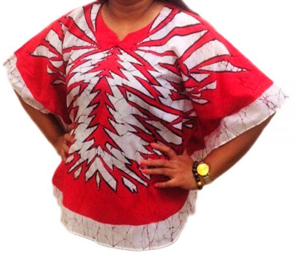 Batik Cotton Poncho 16