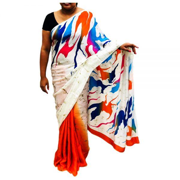 Handmade Batik Saree 01